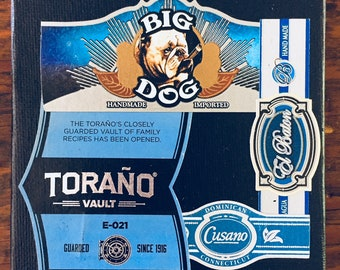 2018 Cigar Band Collage Coaster: Toraño Blue