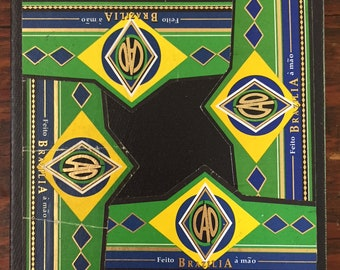 2018 Cigar Band Collage Coaster: CAO Green