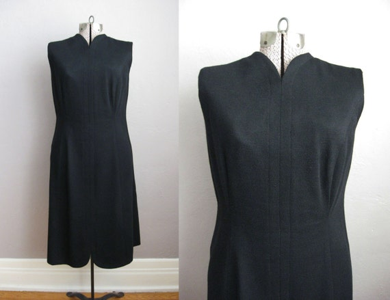 1960s Black Dress / 60s Cocktail Dress / Vintage S