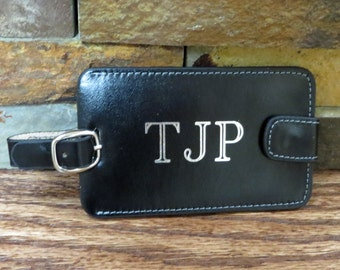 Genuine Leather Personalized Luggage Tag - Gifts for Men - Gifts for Women - Travel Gift
