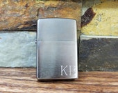 Zippo Lighter Personalized - Brushed Chrome - Groomsmen Gift - Gifts for Men -Christmas - Groom - Wedding - Father 39 s Day - Birthday (495)