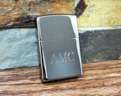 Zippo Lighter Black Ice Personalized, Engraved, Monogrammed, Smokers, Campers, Groomsmen Gift, Christmas, Men and Women, Birthday Gift (203)