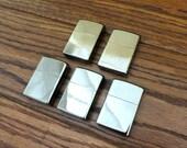 Set of 5 Black Ice Personalized Zippo Lighter - Engraved - Monogrammed- Groomsmen Gift-Birthday Gift (203)
