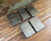 Set of 5 Personalized Zippo Lighter - Brushed Chrome - Wedding Party Gifts- Groomsmen Gift - Gifts for Men (495)