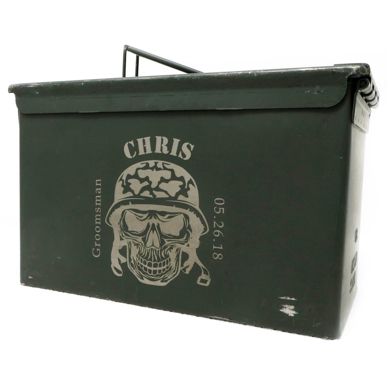 Personalized Ammo Box Engraved Military Ammo Can Customized Groomsmen Gift Groomsman Best Man Sportsman Hunting Fishing Fathers Day