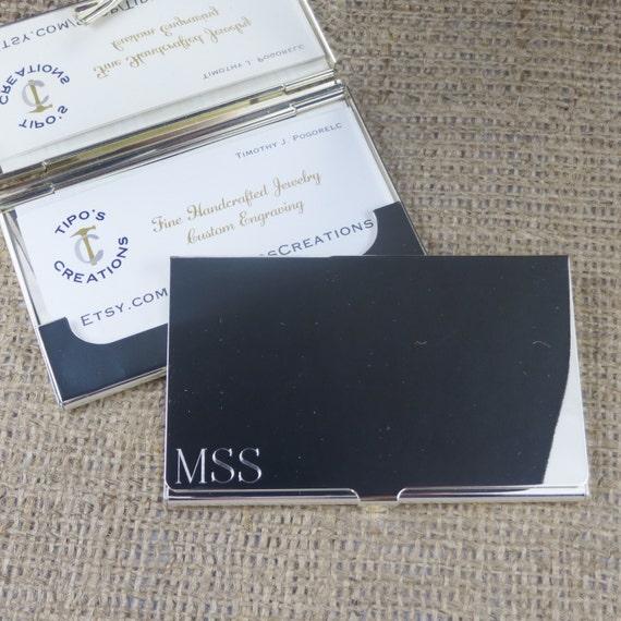 Silber Visitenkartenetui Personalisiert Graviert Corporate Trauzeugen 196