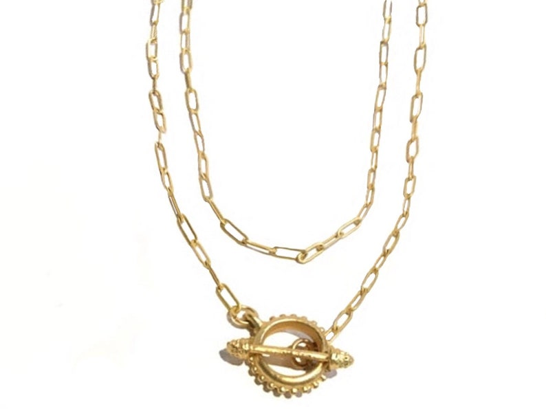 Gold chain necklace Gold wrap necklace Chain necklace women image 0