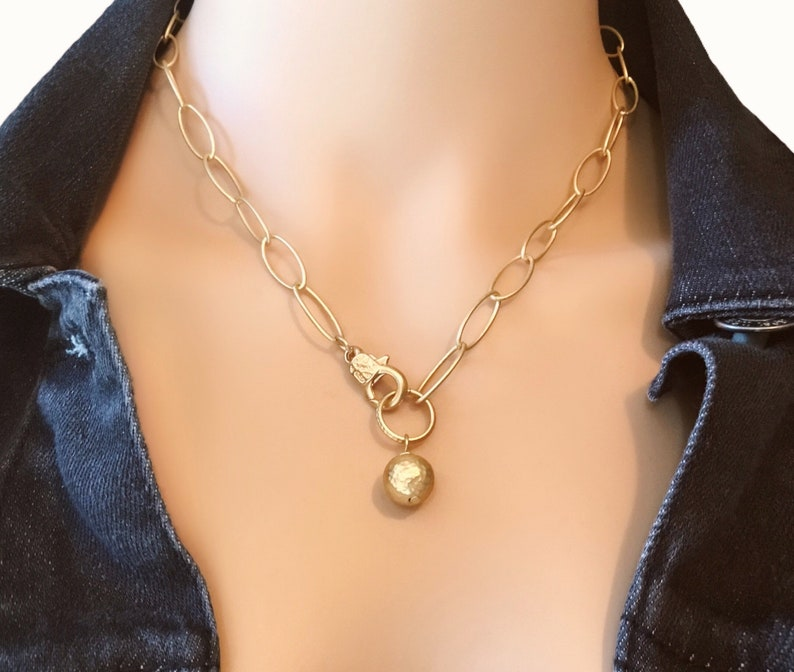 Dainty gold necklace Dainty charm necklace Gold charm image 0