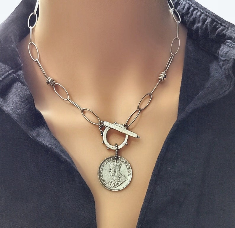 Silver statement necklace Silver choker Statement necklace image 0