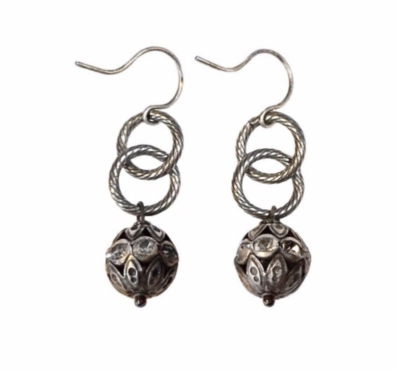 Dainty boho earrings Dainty crystal earrings Boho crystal image 0