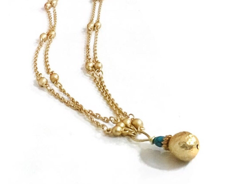 Simple gold necklace Simple dainty necklace Dainty gold image 0