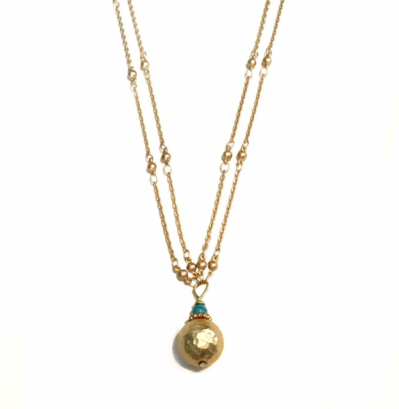 Simple gold necklace  Simple everyday necklace  Gold image 0
