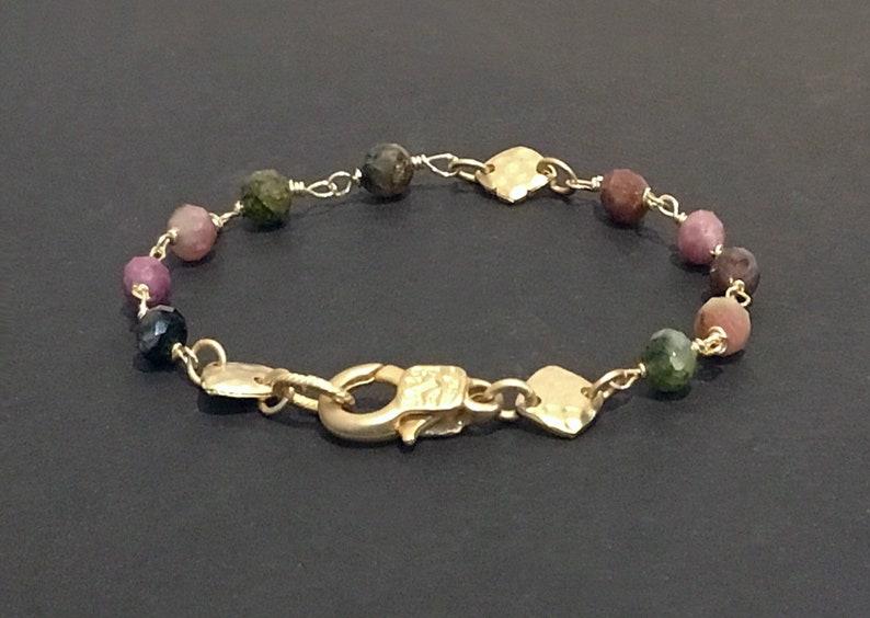 Dainty gemstone bracelet  Dainty beaded bracelet Gemstone image 0