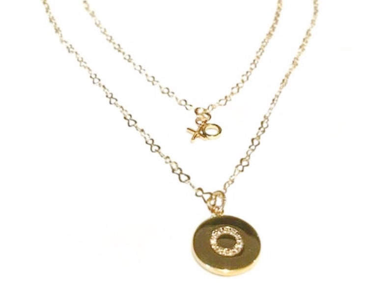 Love necklace set Love necklace gold Layered necklace set image 0
