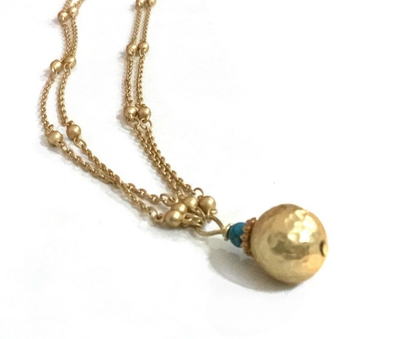 Simple gold necklace Simple everyday necklace Gold necklace image 0