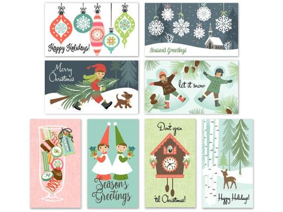 8 christmas tags gift tags the 12 joys of christmas folded etsy