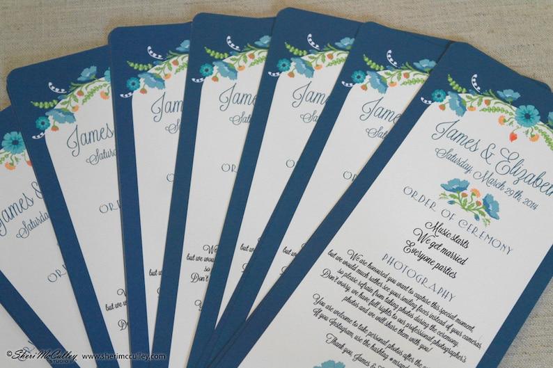 Wedding Programs Floral Wedding Programs Signature Fragrance Ceremony Programs\u2014Deposit Vintage Wedding Programs