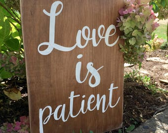 Love is patient, Love is kind stained and painted