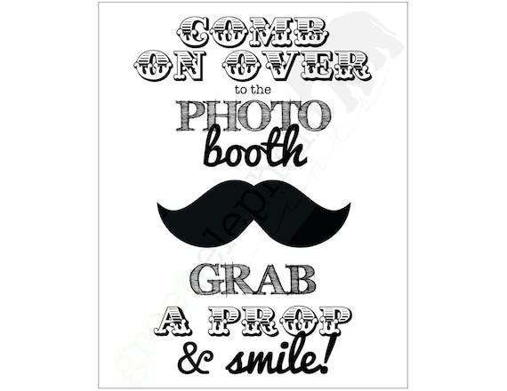 Items similar to INSTANT DOWNLOAD Mustache Bash / Little ...