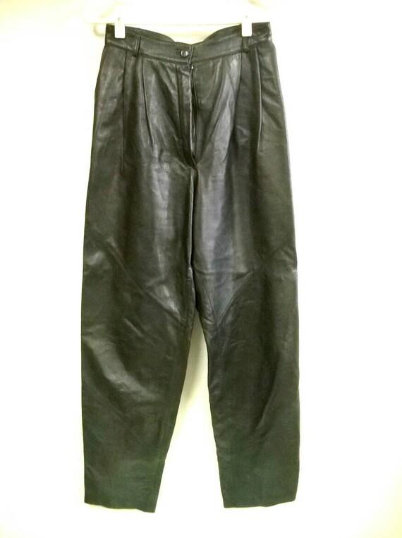 1980's Leather Pants, Maria Vittoria Leather Pants