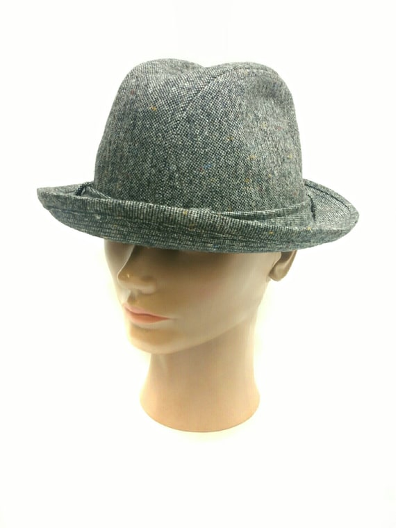 Knox Fedora Trilby Hat Tweed Wool Gangster Classic  6972057066e