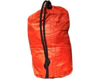 Bright Orange Water Resistant Ultralight Stuff Bag / Stuff Sack