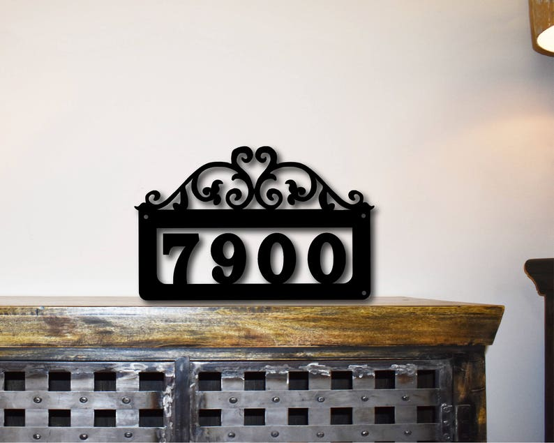 House Numbers Sign Address Number Plaque Custom Made House Address Sign # Sign