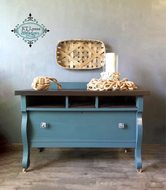 Brilliant Media Console Console Table Empire Home Decor Tv Console Buffet Painted Furniture Coastal Farmhouse Entryway Table Teal Neutral Gmtry Best Dining Table And Chair Ideas Images Gmtryco