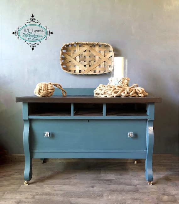 Amazing Media Console Console Table Empire Home Decor Tv Console Buffet Painted Furniture Coastal Farmhouse Entryway Table Teal Neutral Gmtry Best Dining Table And Chair Ideas Images Gmtryco