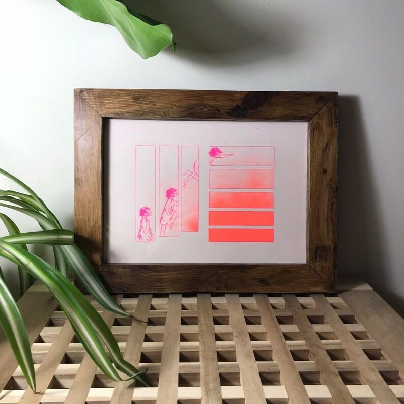A4 Risograph Reach Art Print  2-Colour  8.3 x image 0