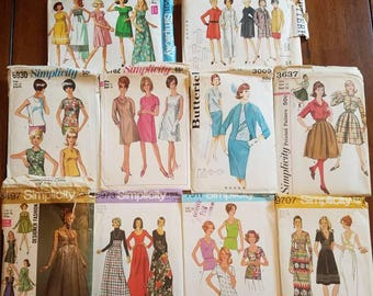 C-Mixed Lot of 1960s/1970s Sewing Patterns
