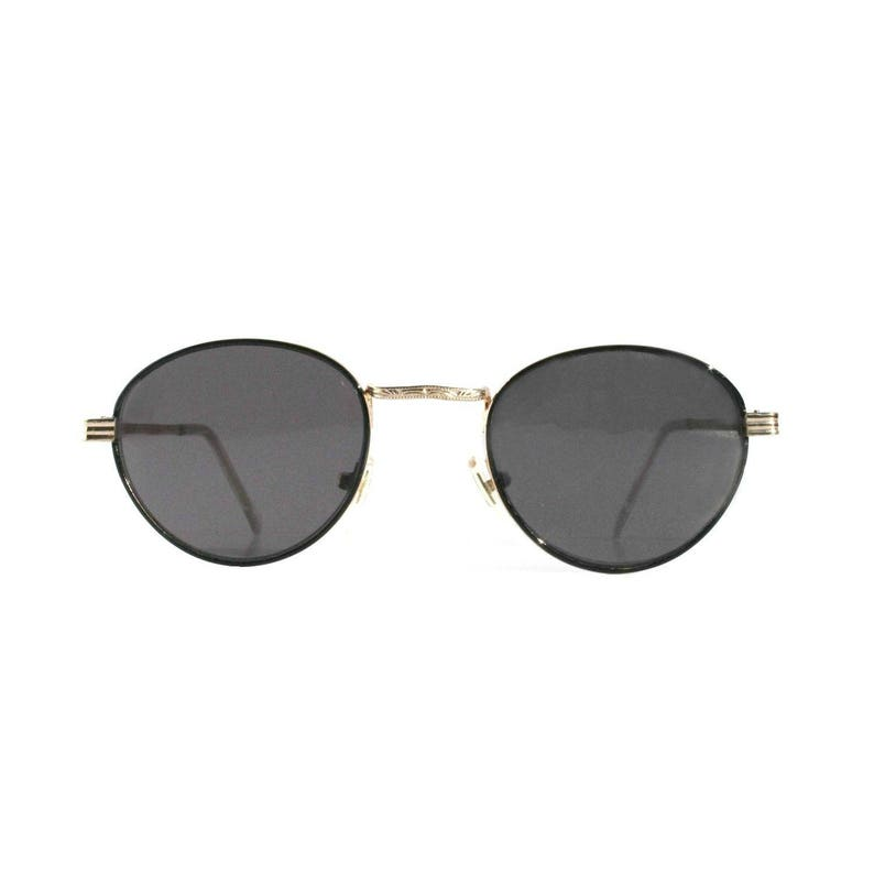 3ab1f500c2 Vintage Round Sunglasses Gatsby P3 Glasses John Lennon Glasses Grey Lenses  Gold Frames O Malley Sunglasses 1980s Deadstock Men Women NOS