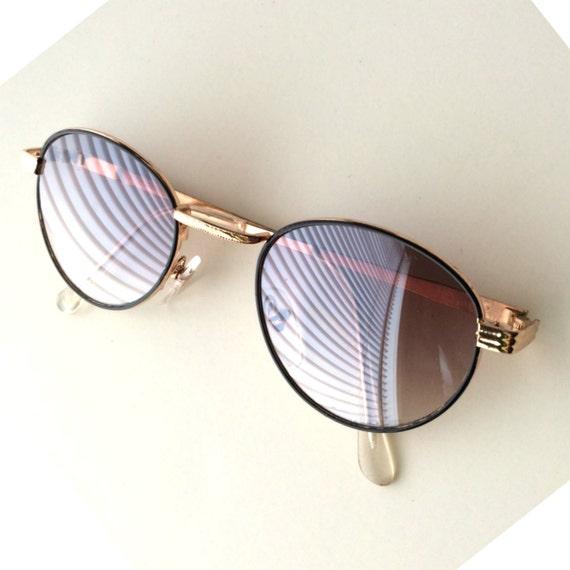 Gatsby le magnifique Vintage rondes lunettes de soleil   or   Etsy a92ea62a9b05
