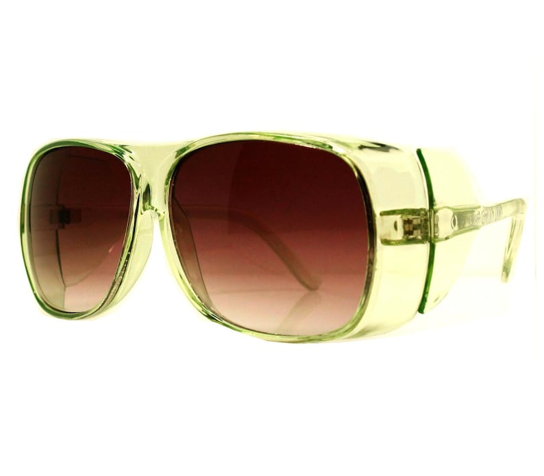 72b73ce4a0 Burning Man Goggles Green Sunglasses 90s Fly Shades