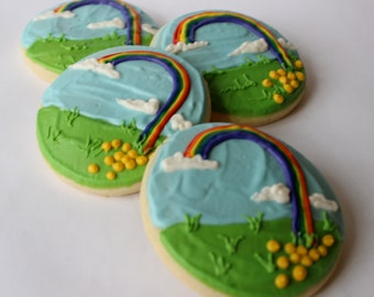 Pots O' Gold, St. Patrick's Day Sugar Cookies with Buttercream Frosting