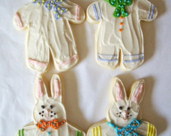 Bunny Sugar Cookies with Buttercream Frosting