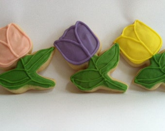 Spring Blooms Sugar Cookies with Buttercream Frosting