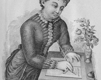 70 RARE Vintage Calligraphy & Penmanship books 1800's-1900's (Printable .pdf eBook) handwriting [Digital Download]