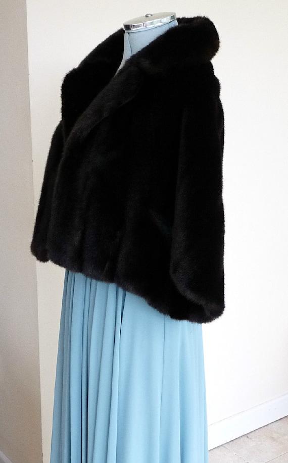 Vintage Fur Capelet Cape Faux Fur Tissavel France
