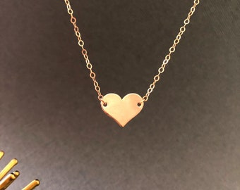 c183ddd7131 GOLD HEART NECKLACE, Celebrity Necklace, Minimal Necklace, Everyday Simple  Jewelry, 14k Gold Fill, Gold Heart choker, gift for her, muse411