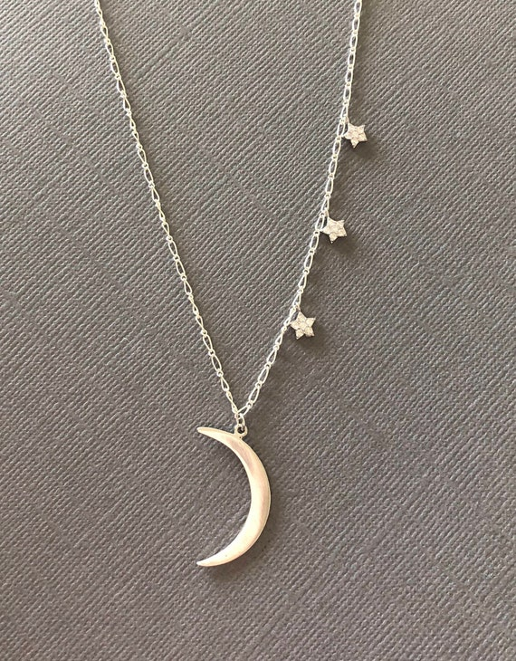 Nathis CZs Hammered Star Dangle Pendant