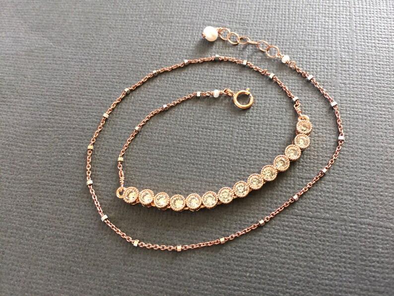 Double layered bracelet Wedding jewelry muse411 Bridesmaid bracelet gift for her Gold Tennis Bracelet layering bracelet
