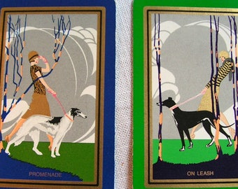 Greyhound | Saluki | Borzoi | Sighthound | Gazehound | Swap Cards | Vintage Art Deco Original Playing Cards