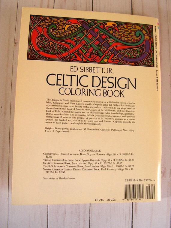 Celtic Design Coloring Book Ed Sibbett Jr 37 Unused Pages