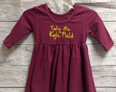 Take Me To Kyle Field Toddler Dress - Maroon - Ready to Ship - Free Shipping - Ships Next Business Day - Football Dress - Spirit Wear