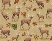 Tan Deer Fabric Forest Whistler Studios Pattern 42260