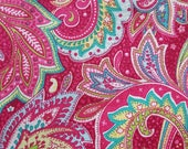 Pink Paisley Fabric Fat Quarter Heritage Studio Collection