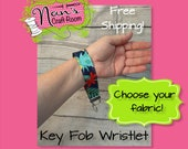 Key Fob Wristlet Ready To Ship Free Shipping Choose Your Fabric Key Chain Fabric Key Ring Custom Orders Welcome