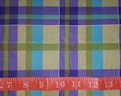 Green & Purple Plaid Fabric Fat Quarter