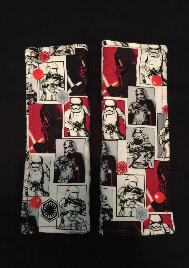 Star wars storm trooper theme seatbelt padding set image 0